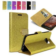 Urcover® Rhinestone Bling Wallet Case | KICKSTAND | Luxury Protective Cover