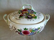 Royal Doulton Hampshire  Flowers Fruit in Urn Birds Round Covered Vegetable Bowl