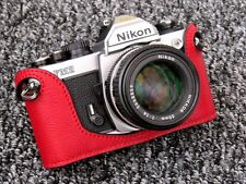 Red Leather Half Case for Nikon FM2, FM3A, FE, FE2 - BRAND NEW