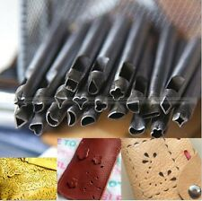 20PC Styles DIY Leathercraft Shape Hole Hollow Punch Leather Crafts Tools S4