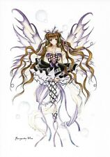 BURGUNDY WINE Anime Faery Fairy Postcard Nene Thomas Faerie Post Card