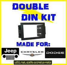 JEEP CHRYSLER DODGE DOUBLE DIN CAR RADIO STEREO DASH INSTALL KIT MOUNT GPS NAV