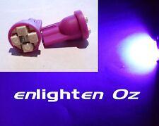 2x Purple UV LED SMD Parker Globes bulbs T10: Honda Civic Integra Accord Prelude