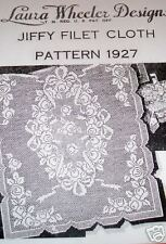1927 Vintage LW FILET CLOTH W/ROSES Pattern to Crochet (Reproduction)