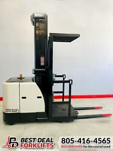 """QTY: 19 Refurbished 2015 Crown Electric Order Pickers   195"""" Masts   LOW HOURS"""
