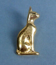 Egyptian 22 KT GP seduto Bastet GATTO Stud-Retro pin spilla