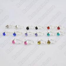 Unbranded Crystal Stud Clip - On Costume Earrings
