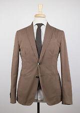 New. Roda Choclate Brown Cotton Blend 2 Button Sport Coat Blazer 48/38 R $1050