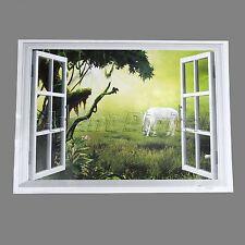 3D Window View Wall Decal Horse Landscape Home Sticker Decoration Art Wallpaper