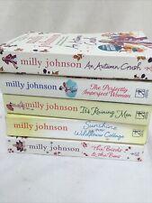 MILLY JOHNSON BOOKS X 5 Autumn Crush Raining Men Birds & The Bees Etc