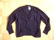 @ One Touch @ leichte klassische Strickjacke schwarz Gr. 42 Size XL UK 14 US 12