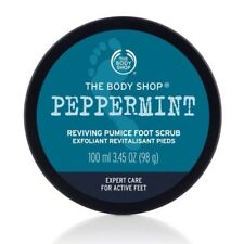New Vegetarian The Body Shop Pumice Foot Scrub Peppermint Scent Exfoliating