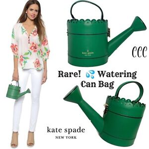Kate Spade Spring Forward Watering Can Bag Green Leather - VERY SPECIAL!