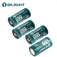 4pcs OLIGHT RCR123A 16340 Lithium-ion Battery 650 mAh 3.7V for High-Drain Device