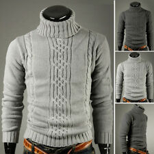 hiver hommes Cardigan chaud Slim fit col roulé pull Tricot Pull Ws