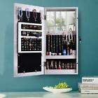 Hanging Wall Mount Photo Display Jewelry Armoire Cabinet Organizer Box W/ Mirror