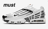 """Nike Air Max Plus III """"White/White/Chile Red/Black"""" Men's Trainers All Sizes"""