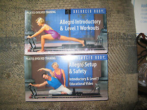 ALLEGRO INTRODUCTORY Level 1 Workouts Pilates Training and Set up and Safety VHS