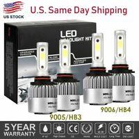 4Pcs 9005+9006 6000K 672000LM Combo CREE LED Headlight Kits High Low Lamp Bulb