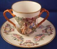 Antique 19thC Richard Ginori / Doccia Porcelain Cup & Saucer Porzellan Tasse