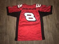 Chase Authentic Budweiser #8 Dale Earnhardt Jr NASCAR On Track Jersey Red Size L