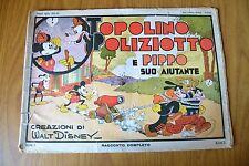 FUMETTO WALT DISNEY TOPOLINO POLIZIOTTO E PIPPO APRILE 1935 NERBINI FIRENZE