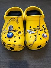 Post Malone X Crocs Yellow Barbed Wire Clog, Mens Size 8, Womens Size 10, RARE!