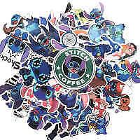 50Pcs Stitch Cartoon Stickers Skateboard Laptop Sticker Luggage Decal