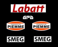 F1 Helmet GPA Gilles Villeneuve Stickers Kit  LARGE Full Size Helmet Ferrari F1