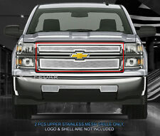 Fedar Fits 2014-2015 Chevy Silverado 1500 Polished Upper Wire Mesh Grille Insert