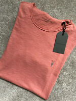 """ALL SAINTS WASHED MARSALA """"DIFFER / HENNING"""" CREW T-SHIRT TOP - XS - NEW & TAGS"""