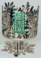 Bath & Body Works Snowflakes Snowday 3 Wick Candle Sleeve Pedestal