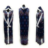 Women Moroccan hooded Long Maxi Dress.Djelleba Abaya Robe Luxury Kaftan Jilbab