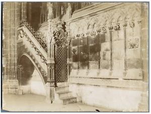 Espagne, Barcelona, Catedral de Santa Eulalia. Interno  Vintage citrate print