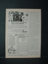 1975 Leica CL Camera Leitz Finest Compact in the World Vintage Print Ad 11360