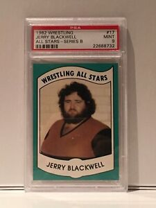 1982 Wrestling All Stars Jerry Blackwell PSA 9 MINT LOW POP ONLY 4 HIGHER AWA