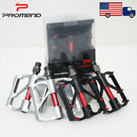 Promend 9/16in Bearings MTB Road Bike Pedal Light Weight 1Pair Bicycle Pedals US
