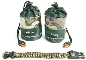Q'S Inn Bivy Sack Emergency Sleeping Blanket Compact And Lightweight Bag. Use As
