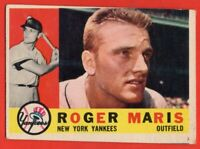 1960 Topps #377 Roger Maris VG+ MISCUT New York Yankees FREE SHIPPING