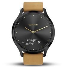 Garmin Vivomove HR Premium - Onyx Black & Tan (AUST STK)