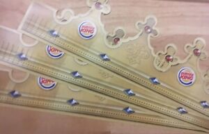3 Burger King Crown Paper Hat From Usa Collectible BK B K 2014 Shipped in a Box