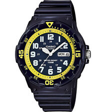 Casio MRW200HC-2B Men's Blue Resin Strap 100M Sports Easy Reader Analog Watch