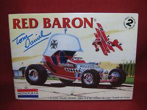 Red Baron Tom Daniel Custom Rod + Fokker Tri-Plane Revell Monogram 1:24 Kit 4258