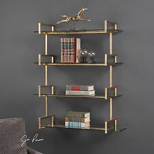 MID CENTURY MODERN METALHOME DECOR HANGING WALL SHELF