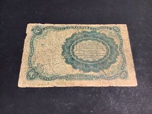 1874 - FIFTH ISSUE - FRACTIONAL CURRENCY - 10 CENT - RED SEAL - L16.Q