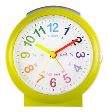 Acctim Green Lulu Round Childrens Time Teaching Learning Real Wall Clock