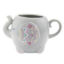 Sass & Belle Mandala Elephant Mug Cup Grey Pink