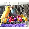 Pet Bird Parrot Parakeet Budgie Cockatiel Cage Hammock Swing Toys Hanging Toy s!