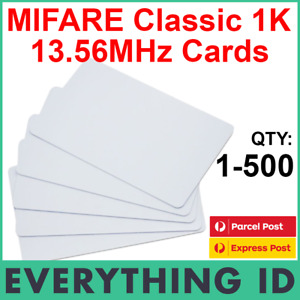 MIFARE CLASSIC 1K S50 PLASTIC HIGH FREQUENCY ISO14443A SWIPE CARD 14443A TAGS
