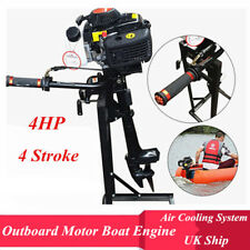 UK 4-stroke 4HP Outboard Motor Shaft Fishing Boat Engine CDI Air Cooling System
